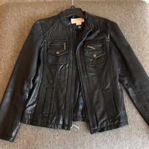 Michael Kors 100% leather jacket, Sz S